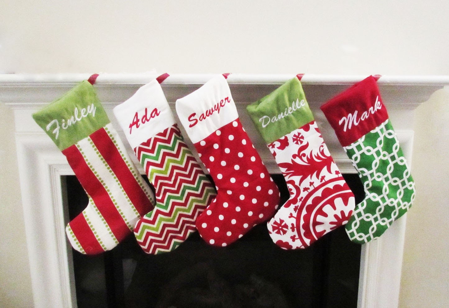christmas stockings holiday home decor personalized