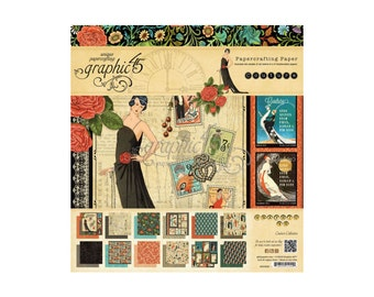 Graphic 45 Couture Collection  Single  12 x 12 Sheets