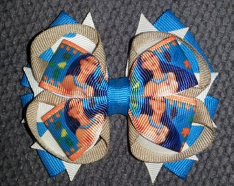 Pocahontas Handmade Stacked Boutique Bow