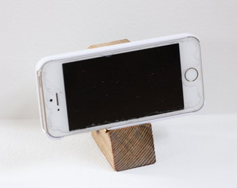 Mid-Century Wood Phone / Tablet Stand