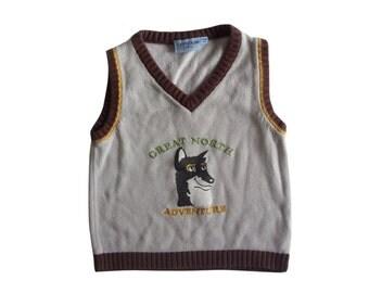 Vintage Campus Baby vest 24 m/92 Great North Adventure Wolf