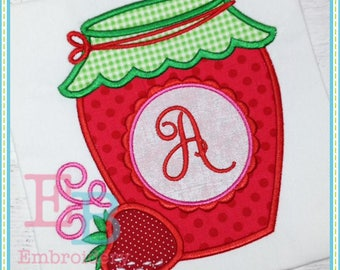 Strawberry Jam Applique - This design is to be used on an embroidery machine. Instant Download