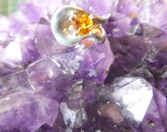 Citrine and Sterling Ring ..... size 6
