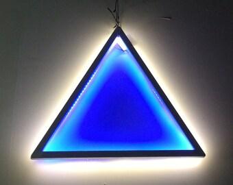 Glowing Steel LED Triangle
