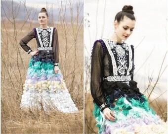 Black petals dress
