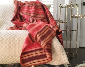 Coral Spring  Alpaca Throw Blanket