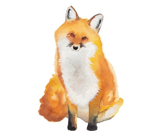 Fox Watercolor Print (FREE U.S. Shipping)