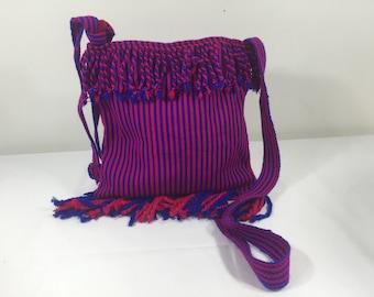 BOHO Purse, Fringed, Purple, Pink, Bag, Festival Purse, Cotton, Cross body