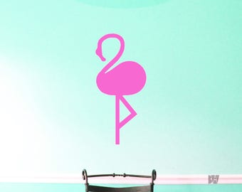 flamingo wall decal pink wall decor girls room decals wall decal office - Wall Designs For Girls Room