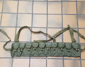 Free Shipping!! Vintage Chinese Ammo Belt