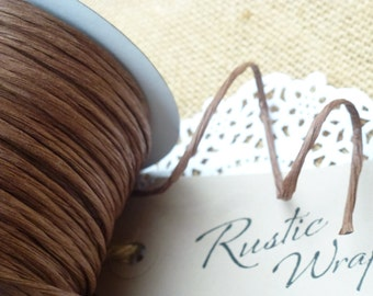 8m Brown Paper Covered Craft Florist Wire 2mm,
