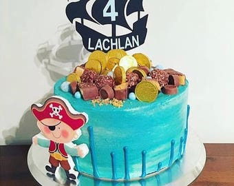 Pirate Ship Cake Topper Decoration