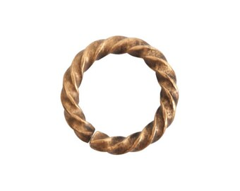 Jump Ring - Large Rope - Antique Gold (plated) - ONE