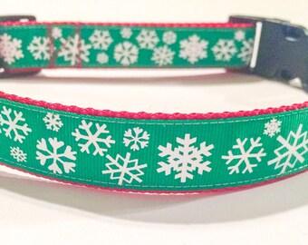 Snowflake Christmas Dog Collar