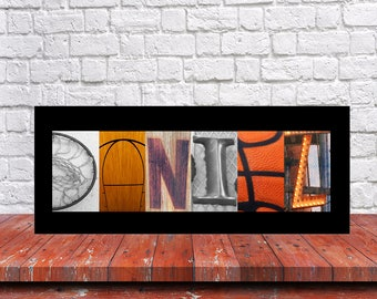 Basketball Sign, Basketball Print, Custom Name Art Basketball Print, Custom Letter Art, Basketball Room, Team Mom Gift, Senior Team Gift,
