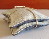 Lavender Sachets - Wool & Flannel - Green and Grey