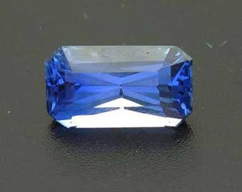 UNTREATED 2.19 ct precision Radiant cut Ceylon Blue Sapphire