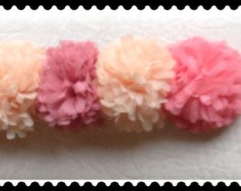 Pink Flowers Belt, Pink Elastic Belt, Fashion Belt, Dresses Belt, Dresses Embellishments, Dress Accessories, Wedding Accessories