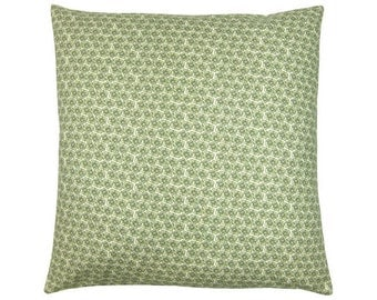 Turn Cushion cover PIXIE flowers olive natural 50 x 50 cm