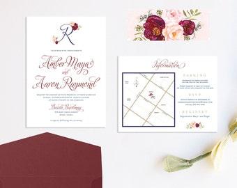 Romantic Traditional Wedding Invitation