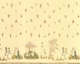 Kate Greenaway - Border - Clotted Cream - 1/2yd