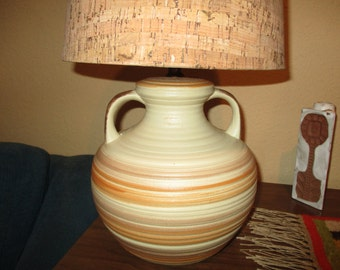 70s Pottery Pot Lamp/without lamp shade