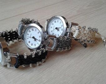 Wrist watch Macrame