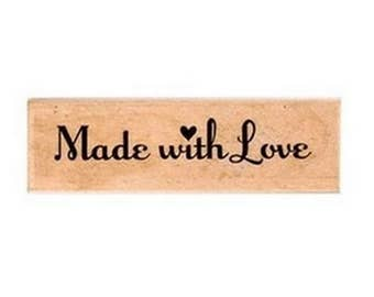 "Stamp with written   ""Made with Love"" Scrapbooking - Marriage - Baptism"