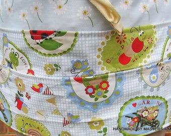Gardening Apron, 6 pockets , Half Apron, Tool Utensils Belt , Waitress Apron, Vending, Teachers Apron, Gardening Fabric, Gardeners Gift