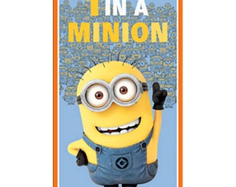 Minion Fabric Panel From Quilting Treasures 100% Cotton