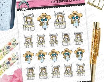 Lemonade stand foxigirl stickers-J146