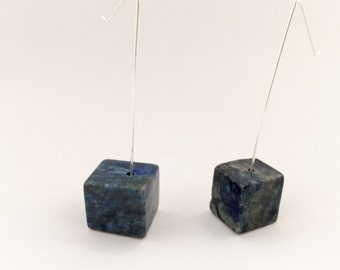 Lapis Lazuli Earrings, Minimalist Earrings