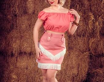 Pink western set