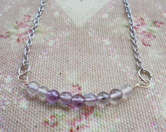 Minimalist Amethyst Necklace