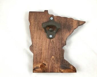 Minnesota State - Wood Cut-out Bottle Opener - Handmade!