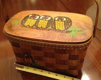 Caro-Nan Wood Purse Basket