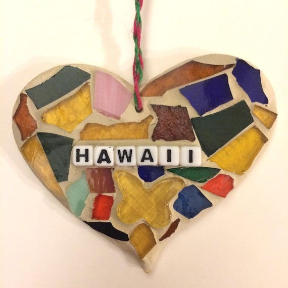 Stained Glass Inspirational Motivational Quotes Affirmations Mosaic Ornaments Hangings Made in Hawaii Deesigns by Harris©