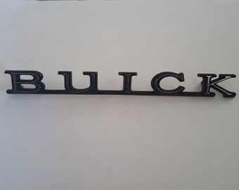 Vintage 1970's to 1980's  Buick logo emblem,  flat black and chrome, Grand National, intact, no part number