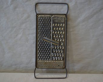 Vintage All In One Flat Metal Grater