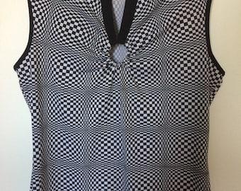Op art Trippy vest top