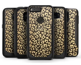 Dark Gold Flaked Animal v8 - OtterBox Case Skin-Kit for the iPhone, Galaxy & More