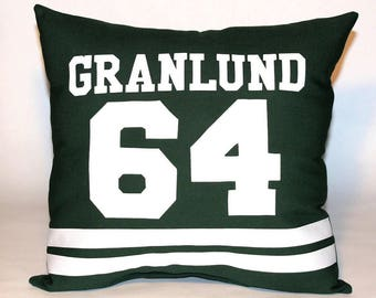 """Minnesota Wild Inspired Sports Pillow-16x16"""" - Personalize your pillow with the Name & Number of your choice"""