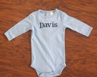 Baby Boys/Girls Personalized Long Sleeve Onesie