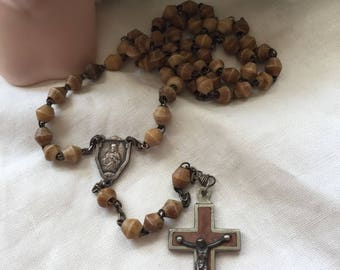 Very Rare Antique Bone Rosary Beads