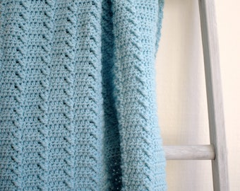 Baby Blanket Pattern Crochet Blanket Pattern DIY Crochet Baby Girl Afghan Pattern DIY Blanket Baby Boy Blanket - Lakeshore Ripples P129