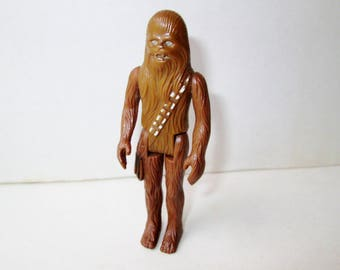 Chewbacca Star Wars Action Figure Toy Doll Vintage Original 1970s Movie Collectible Toy Moveable Arms Legs Wookie Animal Monster Figure