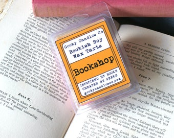 Book Shop Scented Wax Mets. Candles UK, Wax Tarts, Soy Melts, Book Scented Tarts, Soy Tarts,Tarts, Wax Melts, Geeky Candles, Old Books