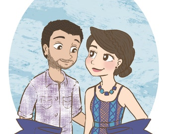 Custom Illustration - Couple Portrait