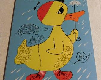 Playskool Duck Wooden Puzzle #275-30