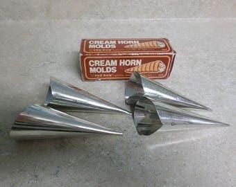 Vintage 1982 Cream Horn Molds by Fox Run Craftsman